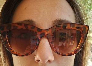 Retro Cat Eye Tortoiseshell Brown Lens Sunglasses